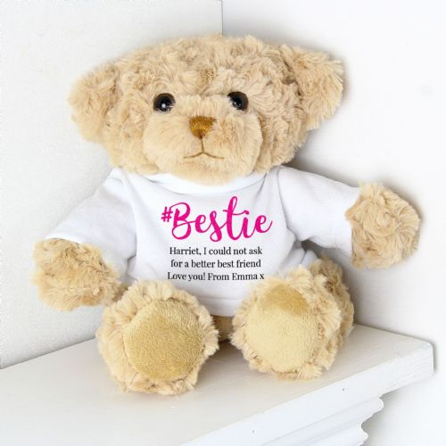 Personalised #Bestie Teddy Bear Gift For Best Friend any message